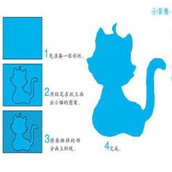 幼儿撕纸基本折法 及撕纸猫咪小鸟的步骤