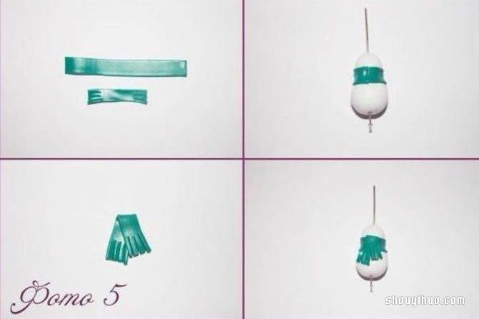 粘土雪人挂件DIY制作的方法步骤图解教程 -  www.shouyihuo.com