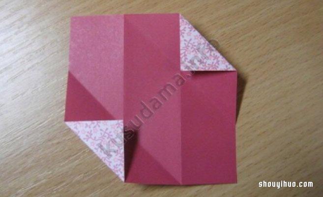 摺紙繡球花的折法圖解 手工摺紙繡球花的方法