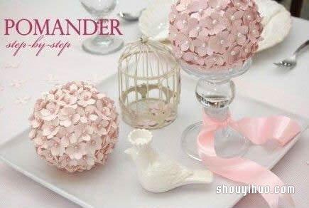 超简单的美丽装饰花球DIY手工制作图解教程