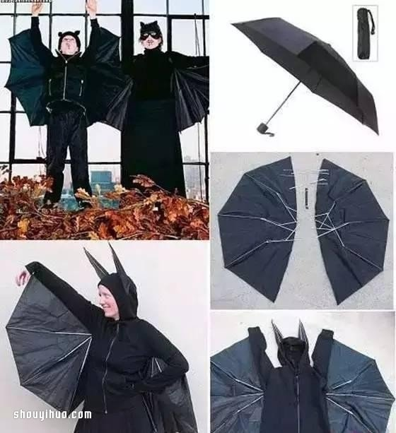 坏掉的伞废物利用小制作