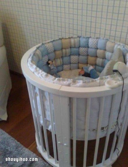 碎布头废物利用制作保护性超好婴儿床、收纳篮 -  www.shouyihuo.com