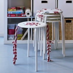 旧凳子改造方法 用麻绳或布条绑一绑就完成