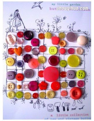 扣子DIY手工制作小玩意 充满创造力和艺术气息