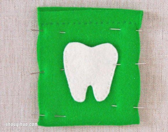 自制爱心牙齿收藏袋 可爱牙齿收纳袋手工制作