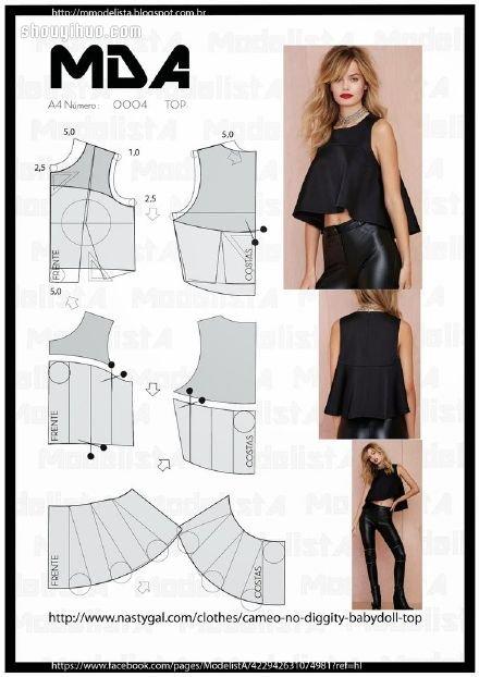 清凉款裙子t恤马甲的制作方法带剪裁图样
