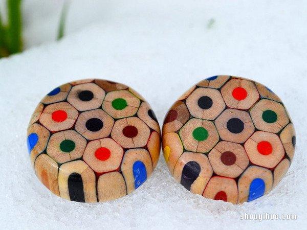 彩色铅笔头变废为宝 DIY制作创意无比的饰品