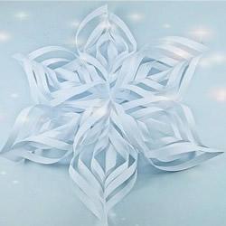 立体雪花的剪法图解 手工立体雪花剪纸步骤图