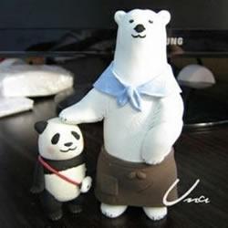 粘土白熊手工制作教程 粘土DIY北极熊步骤图解