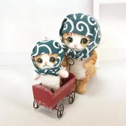 纯手工制作羊毛毡猫咪玩偶 哪只最投你缘