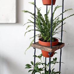 多层花盆挂架diy制作 可悬挂花盆架制作教