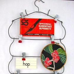 铁丝金属丝DIY制作悬挂式便签、名片收纳架