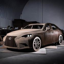 利用回收纸箱制作1:1完全复制的Lexus汽车
