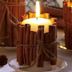 超简单肉桂烛台的制作方法 很有秋冬的气氛