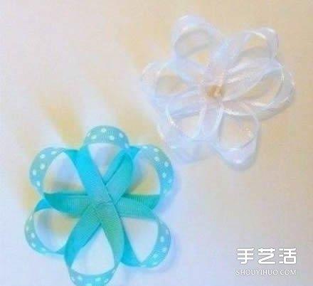 缎带花制作DIY教程 缎带花朵的做法图解