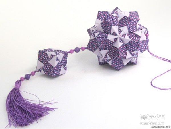 花球的折法步骤图解 手工纸花球的做法教程图片