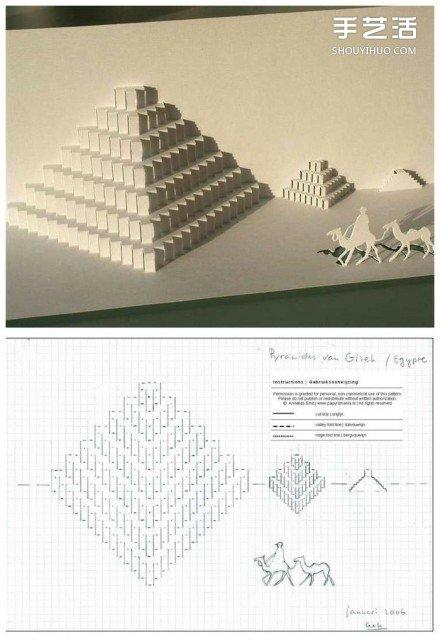 创意手工生日卡片_8个能折出建筑物的立体贺卡图纸模板制作图解_手艺活网