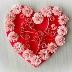 表白爱心剪纸教程 结婚爱心装饰DIY制作图解