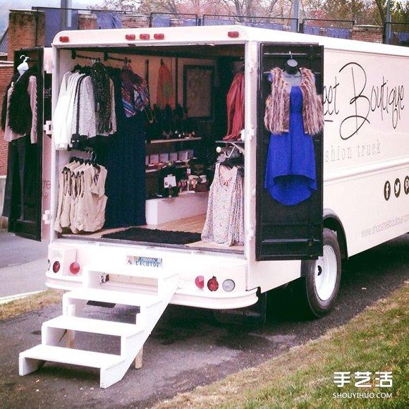 废旧巴士/货车改造成商店 外观上就充满吸引力 -  www.shouyihuo.com