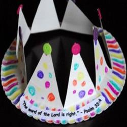 生日皇冠帽制作方法图解 纸餐盘制作儿童皇冠