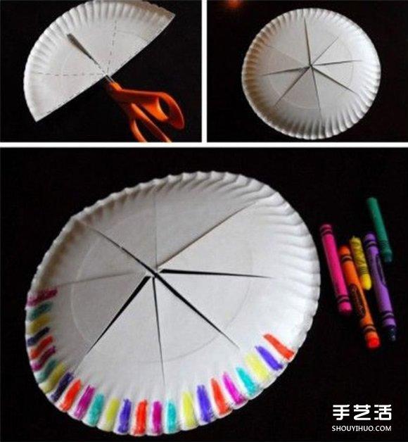 生日皇冠帽制作方法图解 纸餐盘制作儿童皇冠 -  www.shouyihuo.com