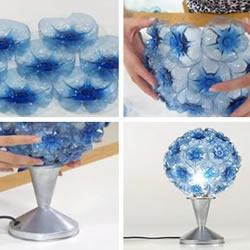 饮料瓶塑料瓶废物利用DIY制作花束台灯吊
