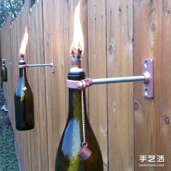 红酒瓶废物利用的方法 diy好玩实用家居用品