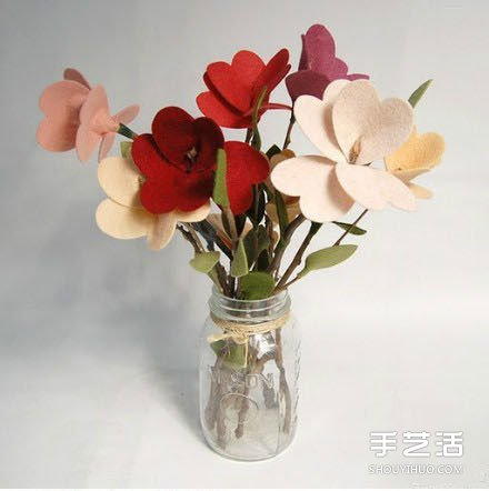 不织布花朵教程图解 手工布艺花朵制作方法图片
