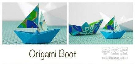 折纸船的方法步骤图解