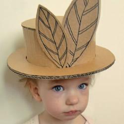 瓦楞纸制作帽子的方法 儿童玩具帽手工DIY教程
