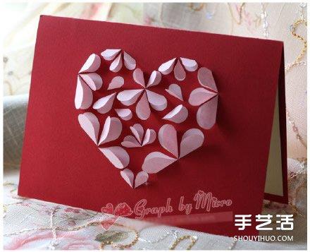 5款可爱的手工卡片 感谢/生日/情人节卡片作品