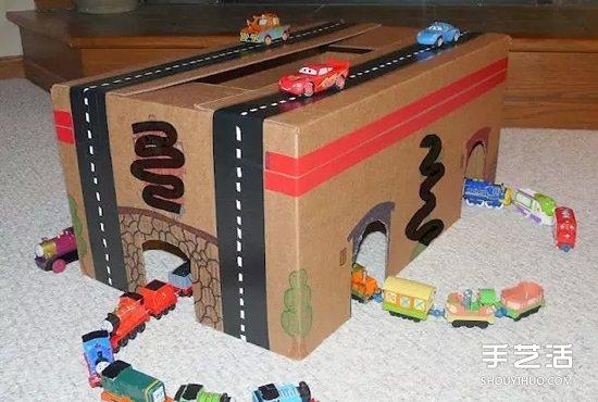 幼儿园纸箱子做房子图片大全
