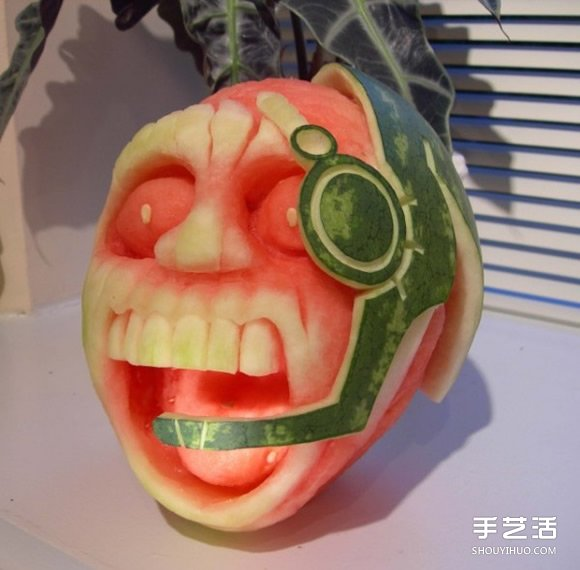 创意西瓜雕刻图片 瓜雕水果雕刻作品欣赏 手艺活网