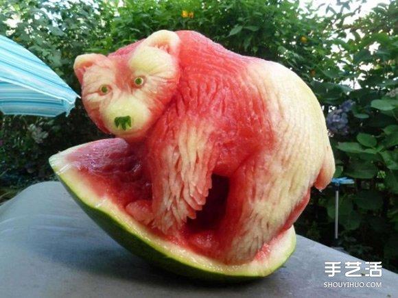 瓜雕水果雕刻作品欣赏
