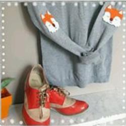 手工布艺狐狸制作方法 可以用来遮挡衣服破洞