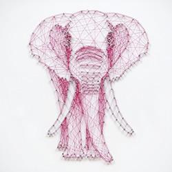 创意立体装饰画手工制作 用线在钉子上拉出图案