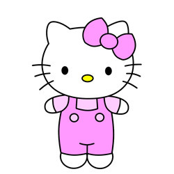 Hello Kitty简笔画的画法 猫咪简笔画教程