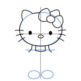 Hello Kitty简笔画的画法 猫咪简笔画教程图片
