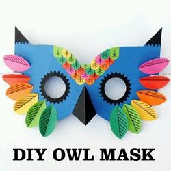 猫头鹰面具手工制作 可爱儿童面具DIY方法