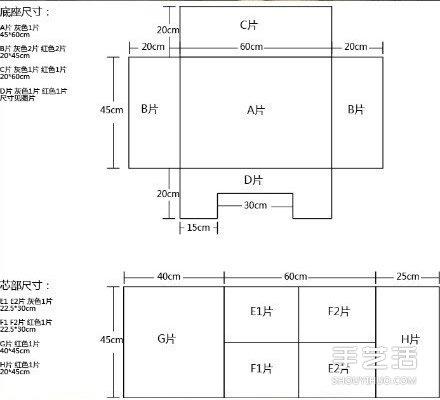 温暖又舒适的手工布艺狗窝DIY制作教程带图纸 -  www.shouyihuo.com