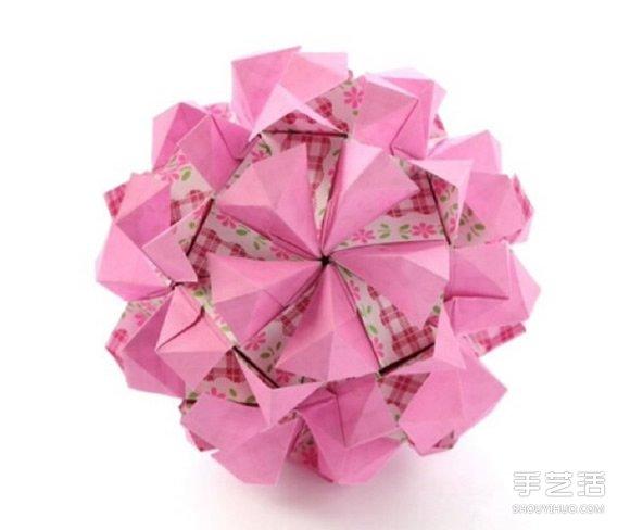 纸花球的做法图解步骤 纸花球折法图解教程