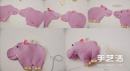 简单布艺小手工 可爱小动物的制作方法图解