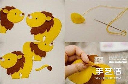 简单布艺小手工:可爱小动物的制作方法图解