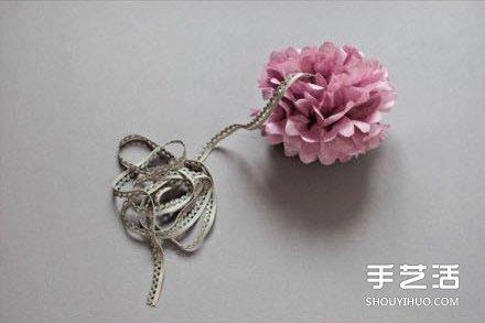 立体纸花的制作图解 立体纸花的做法图解