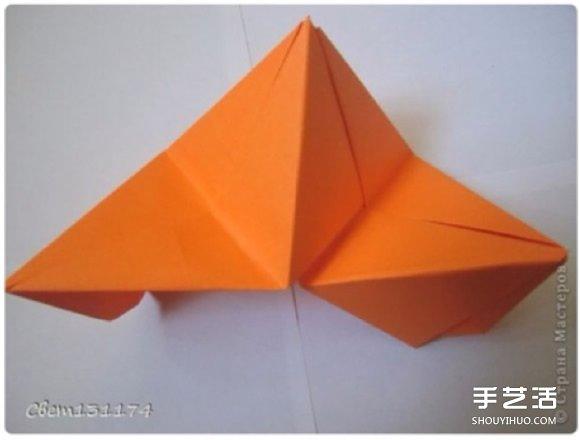 手工立体花球折纸图解