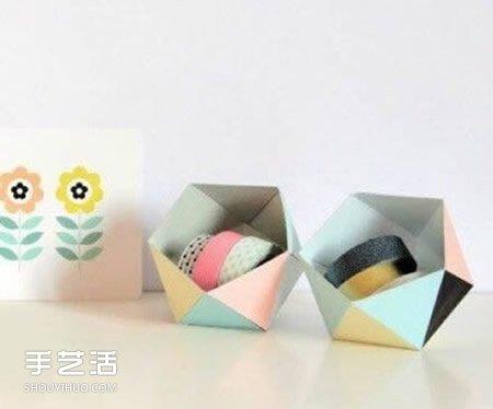 收纳纸盒的做法带展开图 卡纸制作收纳盒的方法
