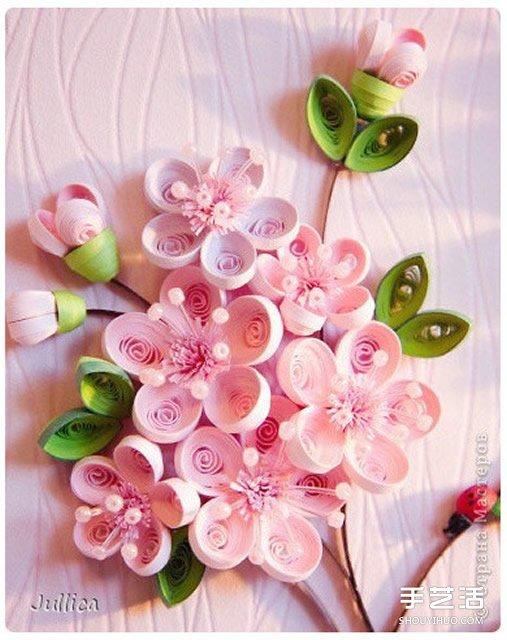 精美的立体衍纸画作品 漂亮立体的衍纸画图片 -  www.shouyihuo.com