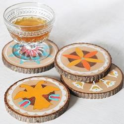 自制木头杯垫的方法教程 简单木制杯垫DIY图解
