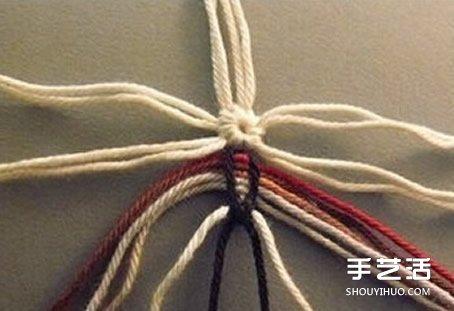 花朵杯垫的编法图解 手工编织杯垫的方法教程