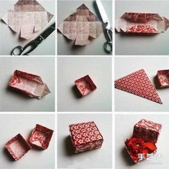常见方形盒子折纸图解图片